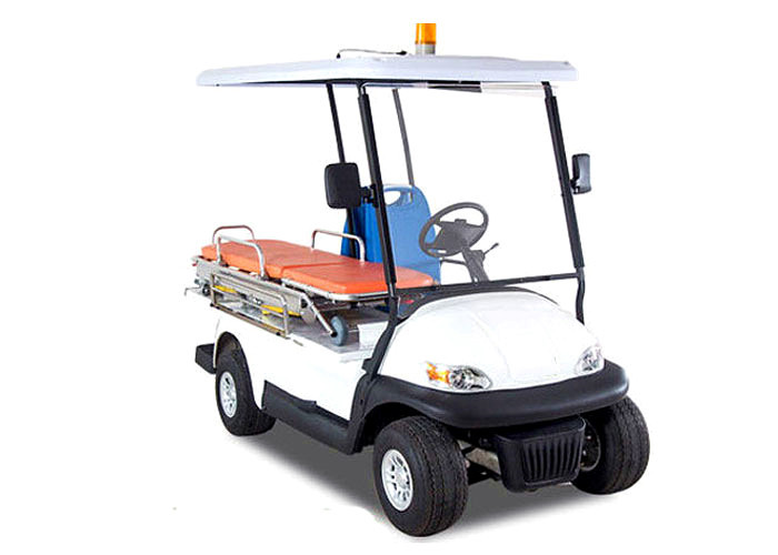 Flexible 48 V Custom Electric Golf Carts 2 Seater With Stretcher For Injury